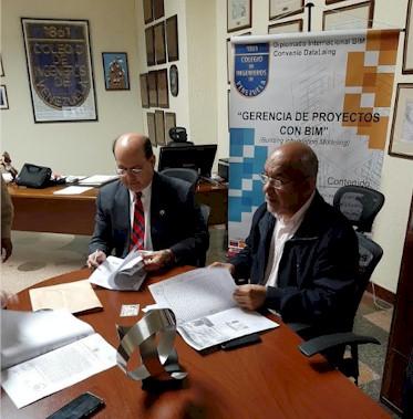 """El Colegio de Ingenieros de Venezuela en alianza con la empresa DataLaing Ingeniería, C.A. concretan el 1er """"Diplomado Internacional de Gerencia de Proyectos con Metodología BIM""""."""